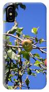 Apple Tree With Apples And Flowers. Amazing Nature IPhone Case