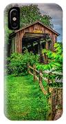 Approach To Hunseckers Mill Bridge IPhone Case