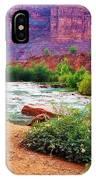 Approaching Navajo Falls IPhone Case