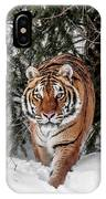Approaching Tiger IPhone Case
