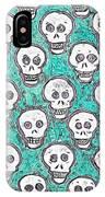 Aqua Skull Pattern IPhone Case