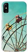 Aquamarine Dream - Ferris Wheel Art IPhone Case