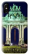Arcade Du Cinquantenaire At Night - Brussels IPhone Case