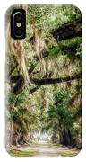 Arch Of Oaks - Evergreen Plantation IPhone Case