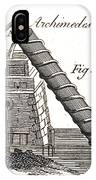 Archimedes Screw, 1769 IPhone Case