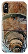 Architectural Ceiling Of The Building Owned By The Rialto Market In Venice, Italy IPhone Case