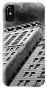 Architecture Tall Buildings Bw Nyc  IPhone Case