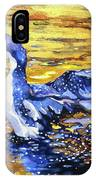 Arctic Loon On Golden Pond IPhone Case