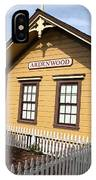 Ardenwood Historic Farm Railroad Station IPhone Case