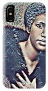 Aretha Franklin Abstract Art IPhone Case