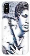 Aretha Franklin Portrait In Blue IPhone Case