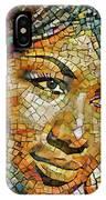 Aretha Franklin Tribute Mosaic Portrait 3 IPhone Case