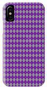 Argyle Diamond With Crisscross Lines In Paris Gray T30-p0126 IPhone Case