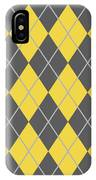 Argyle Diamond With Crisscross Lines In Pewter Gray N05-p0126 IPhone Case