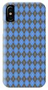 Argyle Diamond With Crisscross Lines In Pewter Gray T18-p0126 IPhone Case