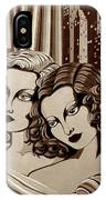 Arielle And Gabrielle In Sepia Tone IPhone X Case