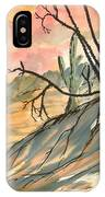 Arizona Evening Southwestern Landscape Painting Poster Print  IPhone Case