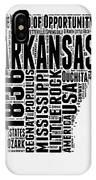 Arkansas Word Cloud 2 IPhone Case