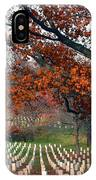 Arlington Cemetery In Fall IPhone Case