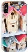 Array Of Handmade Birdhouses For Sale IPhone Case