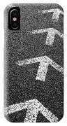 Arrows On Asphalt IPhone Case