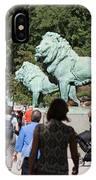 Art Institute Of Chicago Bronze Lions IPhone Case
