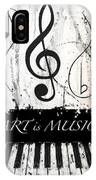 Art Is Music-music In Motion IPhone Case