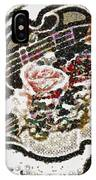 Art Violin And Roses Pearlesqued In Fragments  IPhone Case