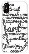 Art Word Cloud 1 IPhone Case