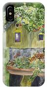 Artful Birdhouse IPhone Case