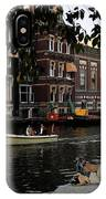 Artist On Amsterdam Canal IPhone Case