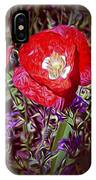 Artistic Kentucky Red Poppy IPhone Case