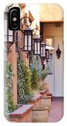 Santa Fe Garden Courtyard IPhone Case