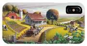 Appalachian Blackberry Patch Rustic Country Farm Folk Art Landscape - Rural Americana - Peaceful IPhone Case