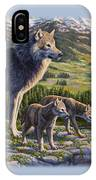 Wolf Painting - Passing It On IPhone X Case