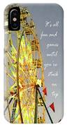 Wheel Of Fortune With Phrase IPhone Case