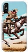 Pony Express Rider Historical Americana Painting Desert Scene IPhone Case