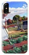 Family Vegetable Garden Farm Landscape - Gardening - Childhood Memories - Flashback - Homestead IPhone Case
