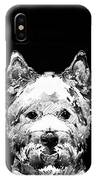 Black And White West Highland Terrier Dog Art Sharon Cummings IPhone Case