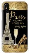 Paris Is Always A Good Idea - Audrey Hepburn IPhone Case
