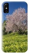 Almond Tree In Meadow IPhone Case