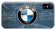 B M W 3 D Badge Over B M W I8 Blueprint  IPhone Case