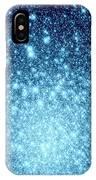 Ice Blue Galaxy Stars IPhone Case