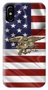 U.s. Navy Seals Trident Over U.s. Flag IPhone X Case