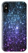 Galaxy Stars Teal Violet Pink IPhone Case