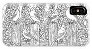 Birds In Flower Garden Coloring Page IPhone Case