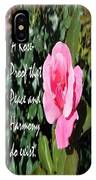 A Rose Is Proof IPhone Case