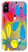 Bright Flowers Intertwined IPhone Case