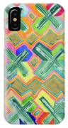 Colorful X-pattern  IPhone Case