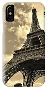 Sepia Eiffel IPhone Case